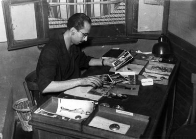 A photo taken when he was working as a journalist  (1954)
