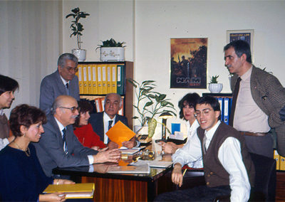 With his team at ONK Agency (1988)